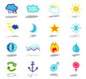nature icons set Royalty Free Stock Photography