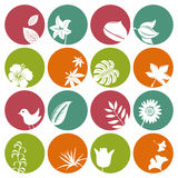 Nature icons set Stock Photo