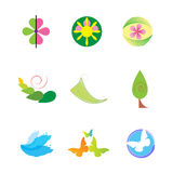 Nature Icons Set Royalty Free Stock Photos