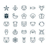 Nature Icons Set. Collection Of Bear, Moth, Claw Print And Other Elements. Also Includes Symbols Such As Elephant Stock Images