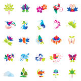 Nature icons. Stock Photo