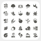 Nature icons set Royalty Free Stock Image