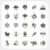 Nature icons set vector illustration