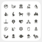 Nature icons set Stock Image