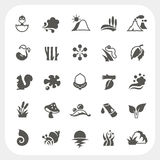 Nature icons set Royalty Free Stock Images