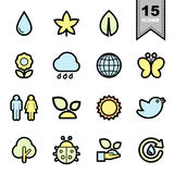 Nature icons set Royalty Free Stock Photo