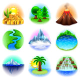 Nature icons vector set Royalty Free Stock Photo