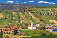 Nature idyllique de région de Prigorje Images libres de droits