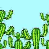 Nature, illustration, vector, plant, green, flower, art. Cactus nature illustration vector plant green flower  art Royalty Free Stock Photos
