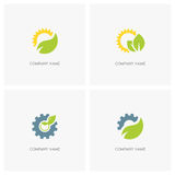 Nature, industry and ecology logo Stock Photos