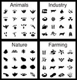 Nature/Industry Icon Set Royalty Free Stock Image