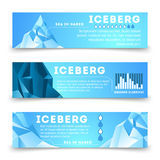Nature information banners template with iceberg. Polar, vector business template card illustration vector illustration