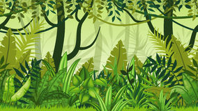 Nature jungle cartoon landscape Royalty Free Stock Photography