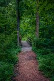 Nature of Kansas City. One of the many Parks in the Kansas City area to hike and explore stock photography