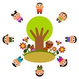 Nature kids Stock Image