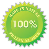 Nature label Royalty Free Stock Photo