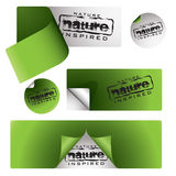 Nature labels Stock Image