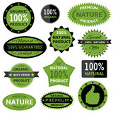 Nature labels Royalty Free Stock Photography