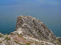 Nature Of Lake Baikal. The point of the promontory Royalty Free Stock Images