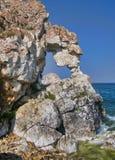 Nature Of Lake Baikal. Rocky ledges above the sea-lake Stock Images