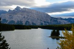 Nature of Lake Minnewanka 8 royalty free stock images