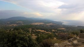 Nature landscape with sea. Nature landscape in aegean region Royalty Free Stock Photography