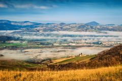 Nature landscape in the Apennines mountains Royalty Free Stock Image