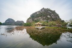 Nature landscape around Seven-star Crags Scenic Area. At Zhaoqing, China royalty free stock photo