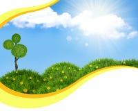 Nature  landscape background Stock Image