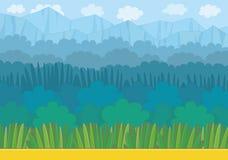 Nature landscape background. Game graphic royalty free illustration