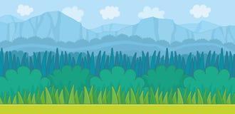 Nature landscape background. Game graphic stock illustration