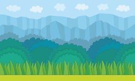 Nature landscape background. Game graphic vector illustration