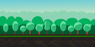 Nature landscape, background for games, trees. Stock Photos