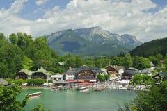 Nature landscape of beautiful lake scene Stock Images