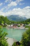 Nature landscape of beautiful lake scene Royalty Free Stock Image