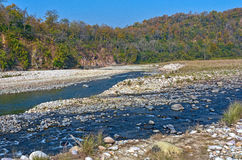 Nature Landscape. Beautiful panoramic view of Corbett forest, India Royalty Free Stock Photos
