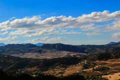 Nature landscape. Beautiful landscape in Ronda in Andalucia, Spain. It´s famous for it´s huge bridge Royalty Free Stock Photos