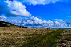 Nature landscape with dramatic clouds Stock Images