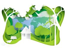 Nature landscape and eco friendly concept. Royalty Free Stock Photos