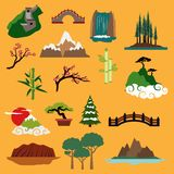 Nature landscape elements and buildings Stock Photography
