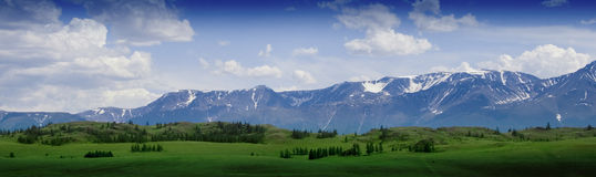 Nature landscape, meadow and mountain of Altay Stock Photo