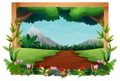 Nature Landscape in the morning. Illustration of nature landscape in the morning vector illustration