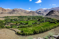 Nature Landscape with mountain background along the highway in Leh Ladakh, India Stock Photography