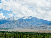 Nature Landscape with mountain background along the highway in Leh Ladakh, India Stock Images