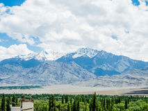 Nature Landscape with mountain background along the highway in Leh Ladakh, India Royalty Free Stock Photography
