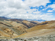 Nature Landscape with mountain background along the highway in Leh Ladakh, India Stock Photo