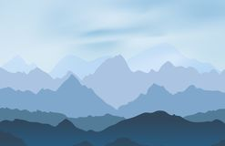 Nature landscape with mountain peaks Royalty Free Stock Photo
