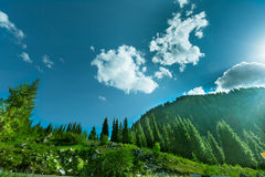 Nature landscape  mountains  Central Asia Stock Photo