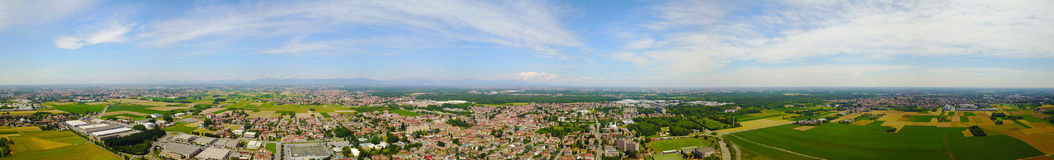 Nature and landscape, municipality of Solaro, Milano: Aerial view. Italy Stock Photography