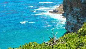 Nature landscape next to Cape town city, oceanscape with high cl Royalty Free Stock Photo